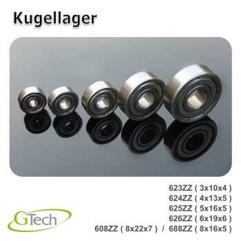 Kugellager 4 Stk. 688ZZ (8x16x5mm)